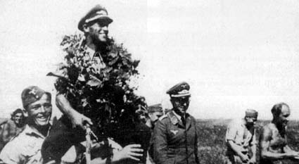 On 3 August 1942, Lt. Anton Hackl, commander 5./JG 77, shot down three Russian aircraft to record his 100th victory.