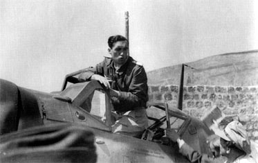 Staffelführer of 6./JG 27 Lt. Willy Kientsch leaves the cockpit