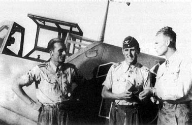 From left: Karl Gratz, Günther Rall and Friedrich Wachowiak.